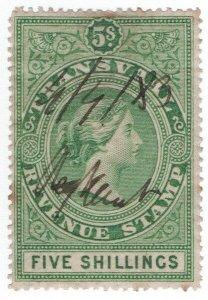 (I.B) Transvaal Revenue : Duty Stamp 5/-
