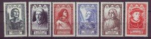 J25047 JLstamps 1946 france set mnh #b207-12 famous people