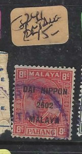 MALAYA JAPANESE OCCUPATION PAHANG  (P1508B)  SG J241   8C    DN    VFU