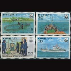 KIRIBATI 1981 - Scott# 380-3 Tuna Fish Set of 4 LH