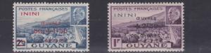 FRENCH COLONIES ININI 1944  OEUVRES COLONIAL  SET   MH