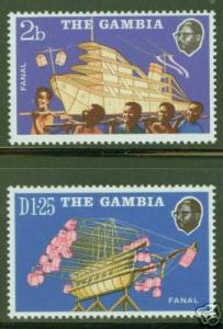Gambia Scott 282-3  MNH** Lighted Boat Models CV $1