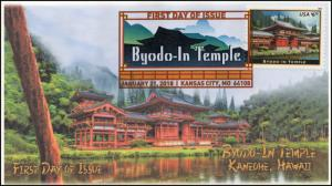 18-018, 2018, Byodo-In Temple, DCP, FDC, Express Mail, Kansas City MO