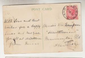 VICTORIA, 1910 Xmas ppc. 1d. GARDINER cds. to Hawthorn.
