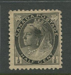 Canada - Scott 74- QV Definitive Issue - 1898 - MNG - Single 1/2c Stamp