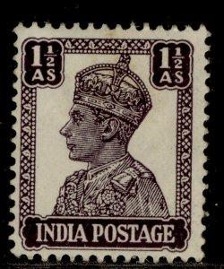INDIA GVI SG269c, 1½a dull violet, M MINT.
