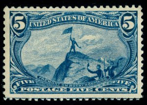 MOMEN: US STAMPS #288 MINT OG NH VF JUMBO