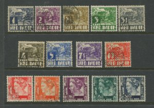 STAMP STATION PERTH Netherland Indies #164-178 Definitive Issue 1933 Used