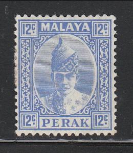 Malaya Perak 1938 Sc 91 Sultan Iskandar 12c MH