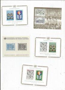 UNITED NATIONS SOUV SHEET COLLECTION, MNH, OG