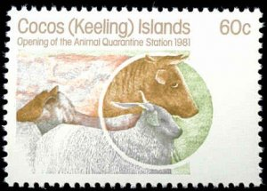 Cocos Islands #65-67, Complete Set(3), 1981, Never Hinged