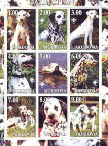 Mordovia Republic 2000 Dogs (Dalmation) perf sheetlet con...