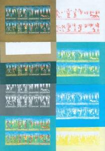 Denmark Christmas Seal 1986 Set Booklet Sheets Scale/Proof,Mnh. Imperforated.