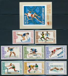 Albania - Munich Olympic Games Set #1432-40 (1972)