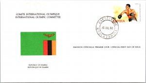 Olympics, Flags, Zambia