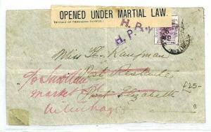 SOUTH AFRICA Boer War *Bloemfontein* CENSOR {samwells-covers} 1901 CW6
