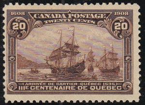 CANADA Sc 103 MNH Original Gum Tercentenary of Quebec NICE!
