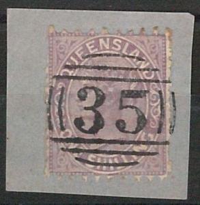 AUSTRALIA  QUEENSLAND: SG 144 USED on PAPER with number postmark 35 LOGAN RIVER