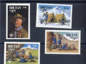 1982 Bhutan Boy Scouts BadenPowell mountain