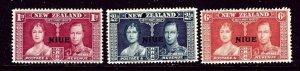 Niue 70-72 MNH 1937 KGVI Coronation    (ap3703)