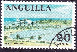 ANGUILLA 1967 QEII 20c Multicoloured SG25 Used
