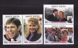 St Lucia 839-840 Set MNH Prince Andrew Wedding (B)