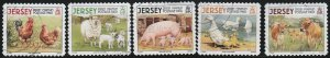 Jersey, #1335a-e  Used  From 2008,   CV-$0.5.50