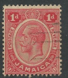 Jamaica # 61 George V   1d.  (1)  VF Used