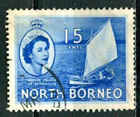 North Borneo 1954: Sc. # 268; O/Used Single Stamp