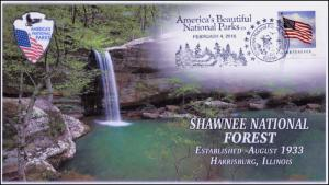 2016, Shawnee National Forest, Beautiful Parks, Pictorial Postmark, 16-071