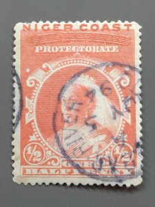 Niger Coast Protectorate 37 F-VF used. Scott $ 11.00