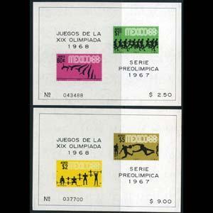 MEXICO 1967 - Scott# C329-31a S/S(2) Olympics NH