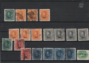 Venezuela 1900 Overprint Stamps ref 22560