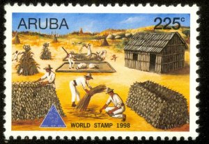 ARUBA 1998 WORLD STAMP DAY Issue Sc 166 MNH