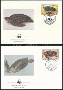 Anguilla stamp WWF: Turtles set on 4 FDC Cover 1983 Mi 541 A-544 A WS244129