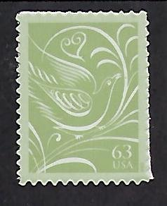 Catalog # 3999 Single Stamp Wedding Invitation Reply .63 Cent