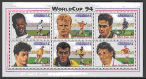 Dominica #1690 m/sheet of 6, F-VF Mint NH ** World Cup Soccer
