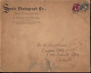 219,219D Used... Soule Photograph Co cover to George H Brodhead, Artist