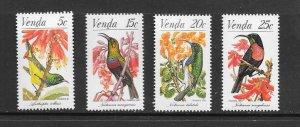 BIRDS - SOUTH AFRICA (VENDA) #40-43   MNH