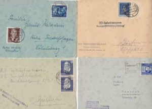 Germany Democratic Republic 8 early  stamps cover fronts  R20901