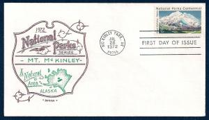 UNITED STATES FDC 15¢ National Parks 1972 Artopages
