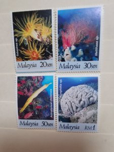 MALAYSIA 1997  CORALS OF MALAYSIA IN FINE MINT CONDITION