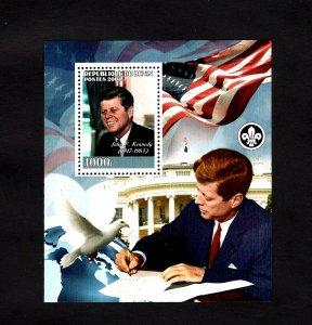 BENIN - 2008 - JOHN F KENNEDY - JFK - FLAG - WHITE HOUSE - DOVE - MNH S/SHEET!