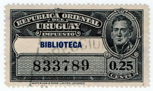 (I.B) Uruguay Revenue : Library Fee 25c