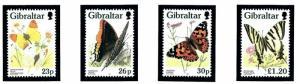 Gibraltar 728-31 MNH 1997 Butterflies