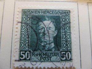 Bosnia & Herzegovina 1917 50h fine used stamp A13P18F75