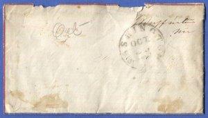 c.1863 CIVIL WAR Patriotic Cover, US Congress Free Frank 'James Buffington' Mass