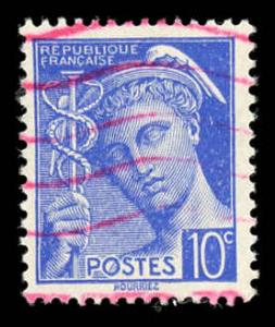 France 356 Used Red Cancel
