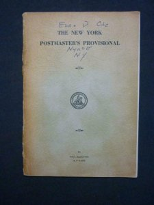 THE NEW YORK POSTMASTER'S PROVISIONAL by PAUL MACGUFFIN