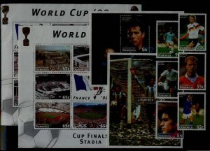 Dominica 1985-94 MNH Football-94 SCV29